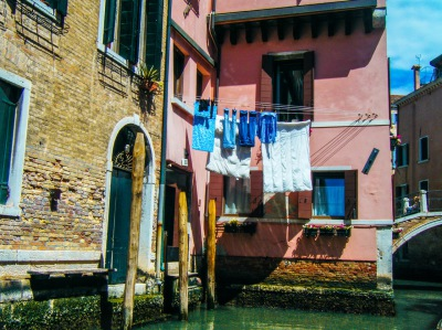 Color - Laundry Day in Venice  - Cathy Goodge