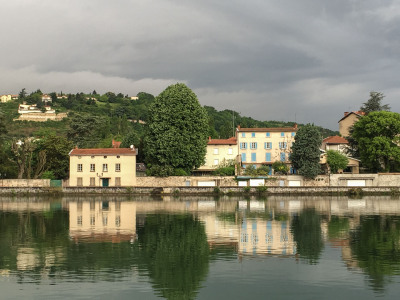 Color - View from the Riverboat, Vienne, France - Sandy Gilbert