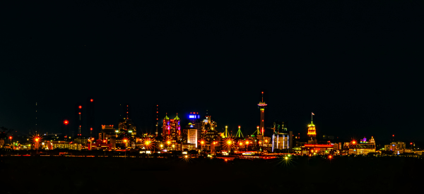 """San Antonio Skyline at Night"" by Anthony Shearin"