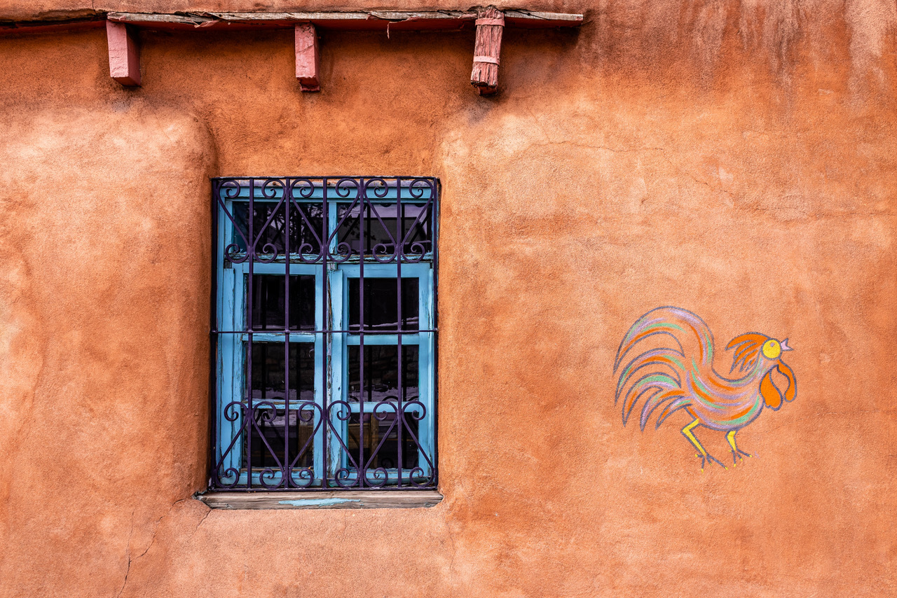 Blue Window in Santa Fe by Scott Stevens