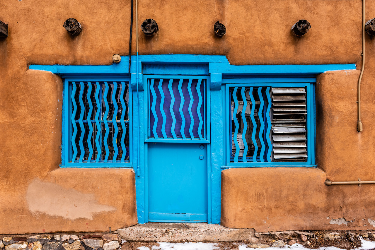 Blue Door in Santa Fe by Scott Stevens