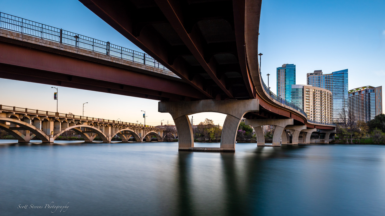 Bridges Over Town Lake by Scott Stevens