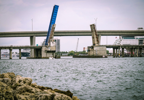 Old & New Bridges Over Biscayne Bay by Sandy Gilbert